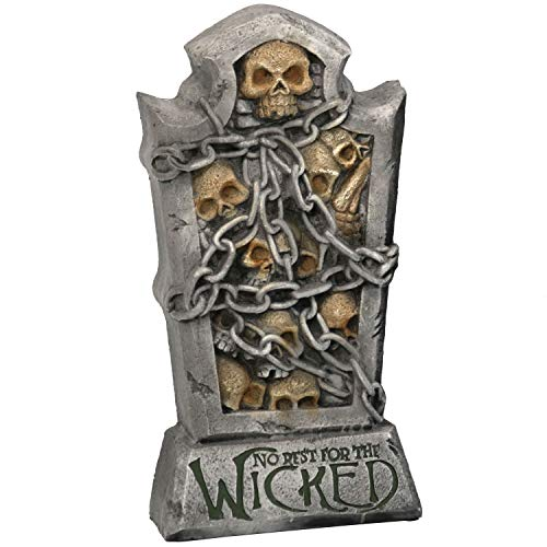 Sunnydaze No Rest for The Wicked Tombstone Graveyard Halloween Decoration, 24-Inch Tall -