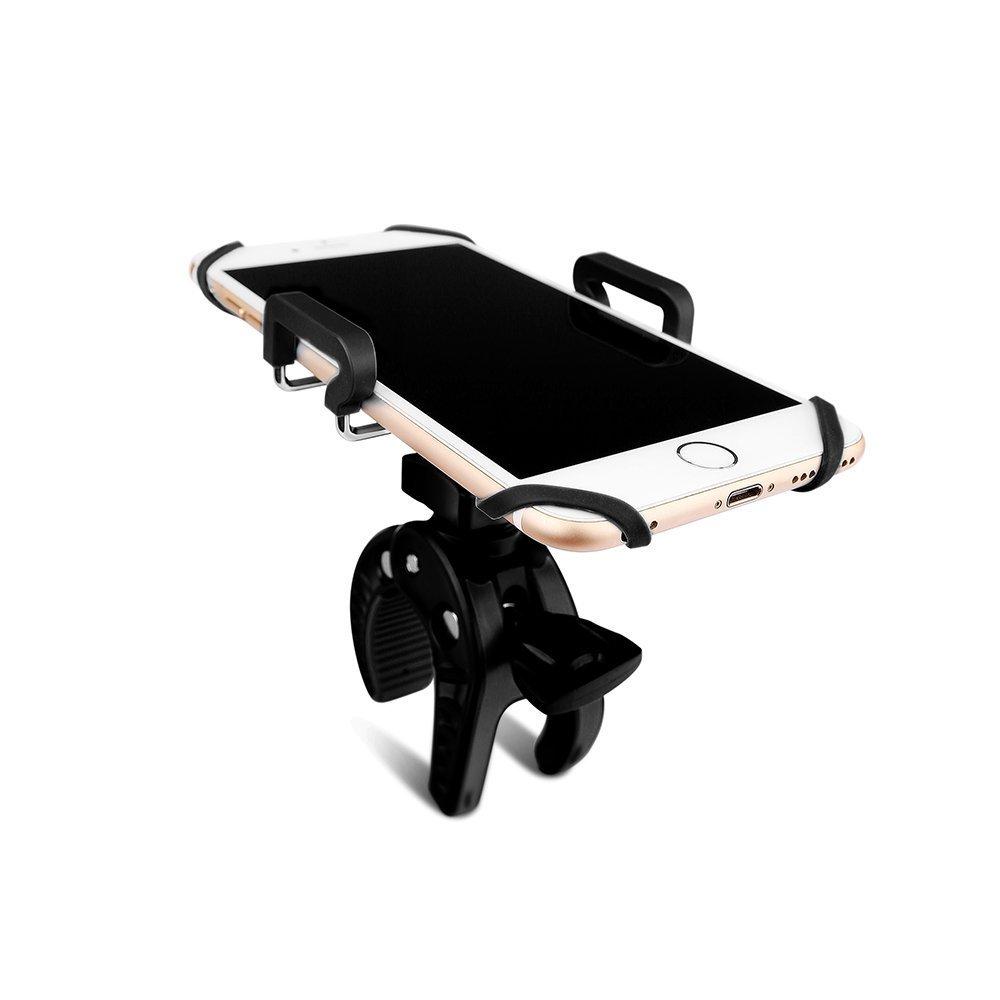 iPhone 6 Lychee 360 degr/és Rotation Porte-Guidon de v/élo pour t/él/éphone Intelligent pour iPhone 6s Plus Google Nexus LG HTC et GPS Samsung S6 Edge Noir