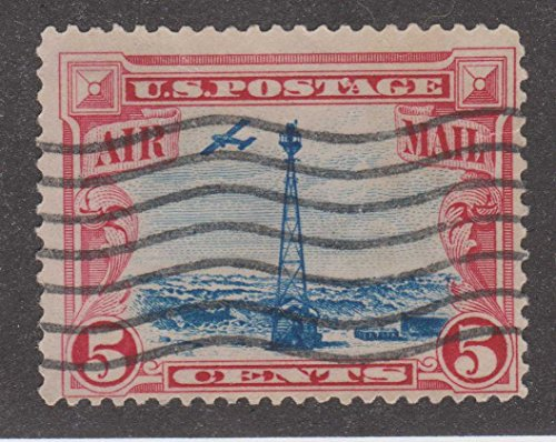 5 Cent Air Mail Plane and Transmission Tower US Postage ()