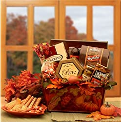 Fall Gift Basket of Gourmet Thanksgiving Treats