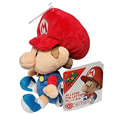 Little Buddy 1247 Super Mario All Star Collection Baby Mario Plush, 6