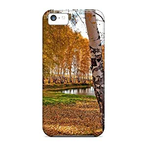 Diy iphone 5 5s case Awesome Design Autumn Park Trees Hard Case Cover For iPhone 5 5S