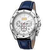 Just Cavalli Mens Quartz JC1G013L0555 Blue Calfskin Leather Strap Watch