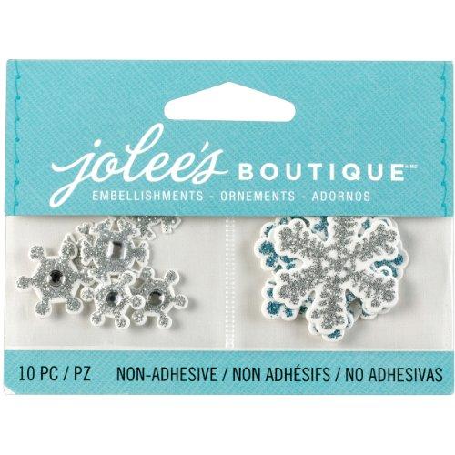 Jolee's Boutique 50-00613 Scrapbooking Embellishments, Mini Snowflakes (Boutique Jolees Snowflakes)