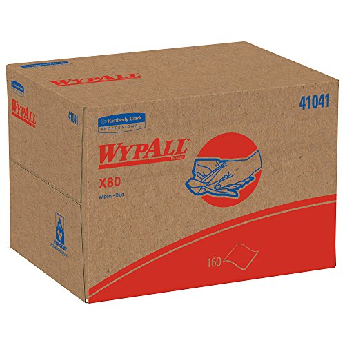 Wypall X80 Reusable Wipes (41041), Extended Use Cloths BRAG Box Format, Blue, 160 Sheets/Box; 1 Box/Case by Kimberly-Clark Professional