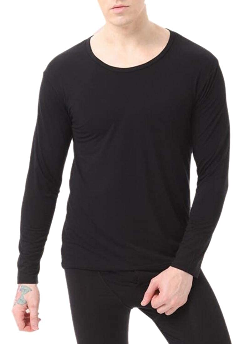 WSPLYSPJY Men Thermal Underwear Soft Cotton Long Johns Winter Base Layering Set