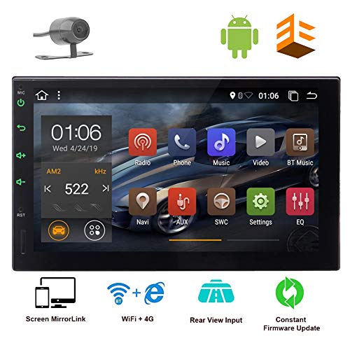 Android Double Din GPS Navigation 2 Din Car Stereo Bluetooth in Dash Touch Screen Radio MirrorLink Autoradio Head Unit Video Player USB/SD Head Unit Free