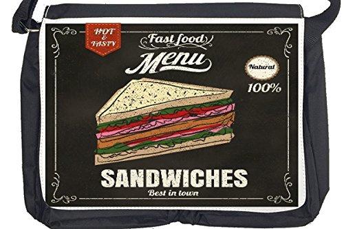 Borsa Tracolla Retro Sandwich Stampato