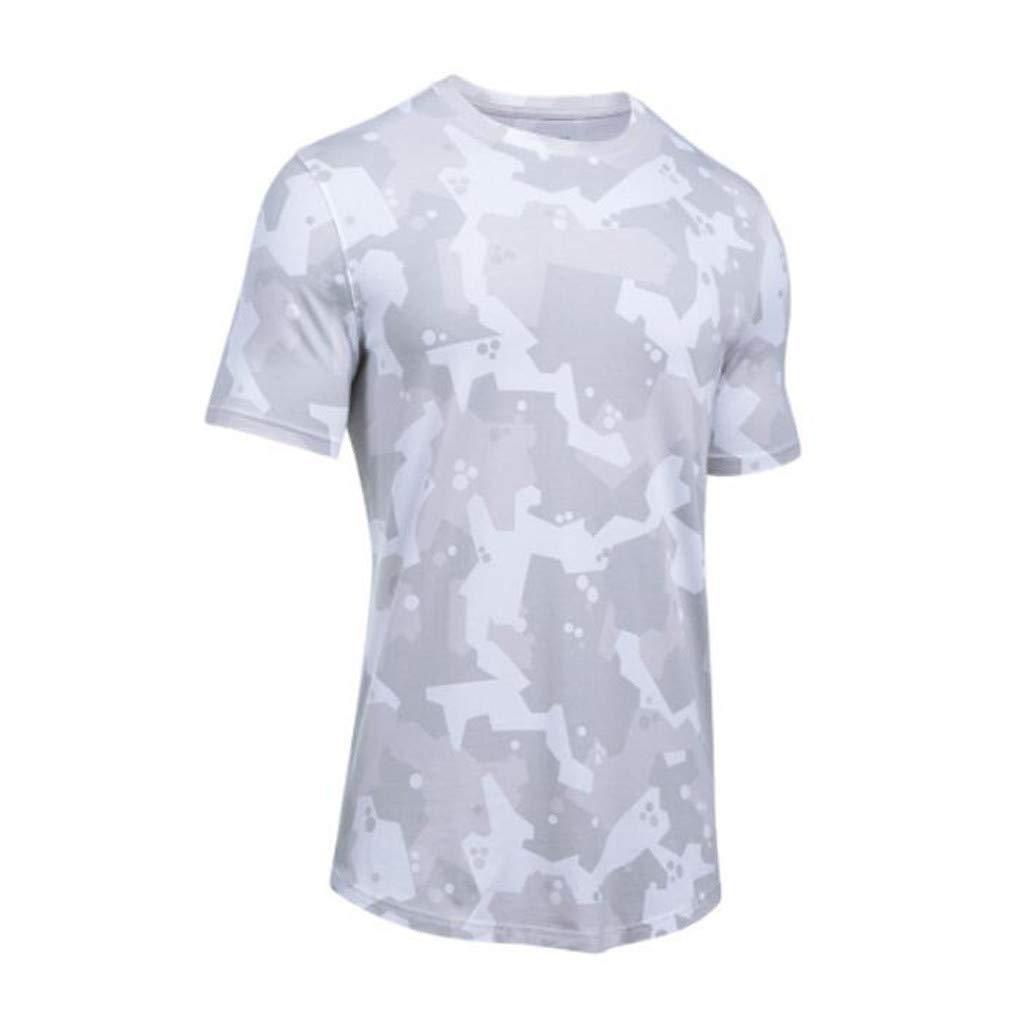 Oliviavane Herren Sport Shirts Fitness Schnelltrocknender Kurzarmshirts Mode Camouflage Druck Atmungsaktives Trainingsshirt Bodybuilding Muskelshirt