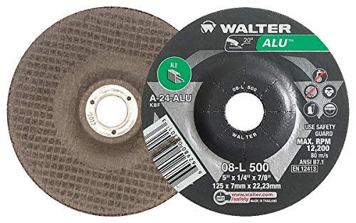 - Walter 08L500 Aluminum Grinding and Cutting Wheel - [Pack of 25] A-24-ALU Grit, 5 in. Die Grinder Wheel. Abrasive Wheels