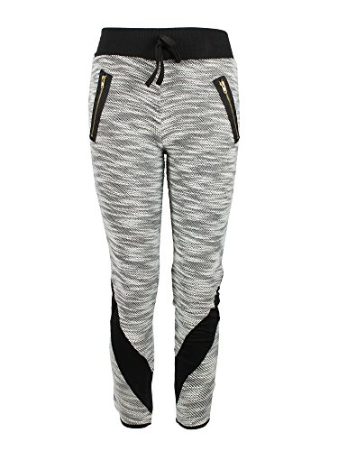 Terry Zip Pocket Pant (Crush Girls Terry Space Dye Cut & Sew Sweatpants Zip Pockets Black Size 5 6)