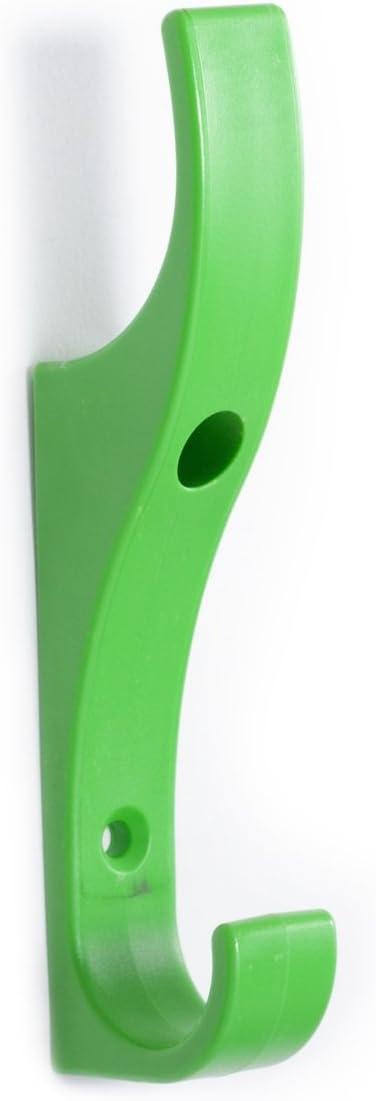 Toughook Originale Arcobaleno indistruttibile Sicuro Resistente Sicurezza 6 Ganci di Sicurezza Gancio Appendiabiti Appendiabiti a Parete Legno Bianco per Scuole Casa e Lavoro
