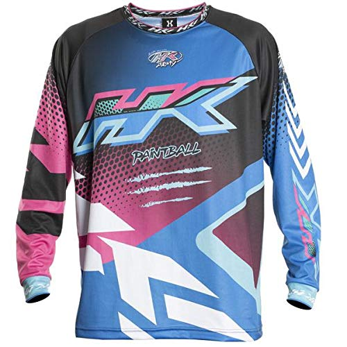 HK Army Retro Paintball Jersey - Edge - Blue/Pink - Large