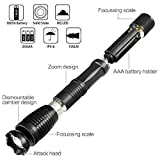 Ultra-bright 18650 flashlight with 6PCS 3.7V