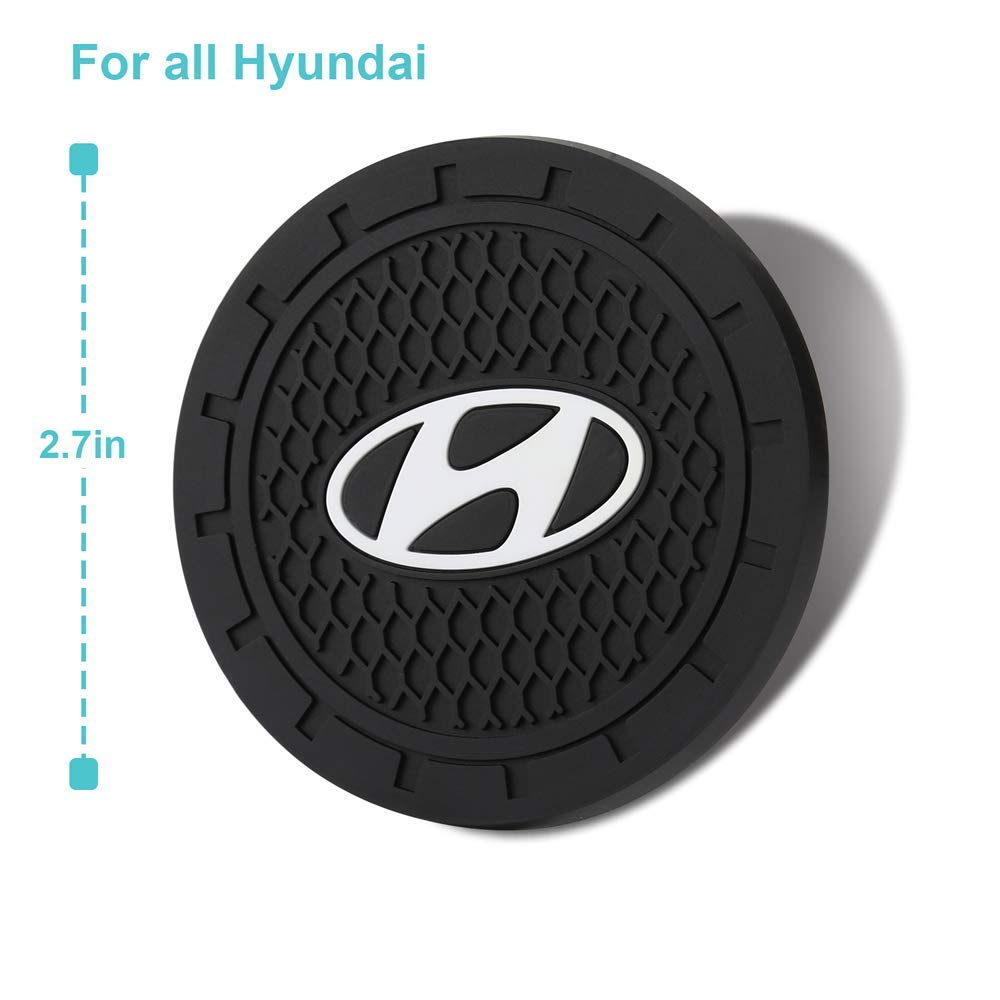 Bearfire 2.75 Inch Diameter Oval Tough Car Logo Vehicle Travel Auto Cup Holder Insert Coaster Can 2 Pcs Pack fit corvette