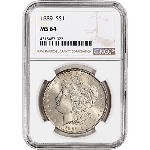 1889 US Morgan Silver Dollar $1 MS64 NGC