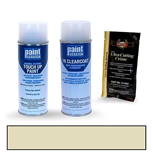 PAINTSCRATCH Titanium Silver Metallic IM for 2013 Kia Optima - Touch Up Paint Spray Can Kit - Original Factory OEM Automotive Paint - Color Match ()