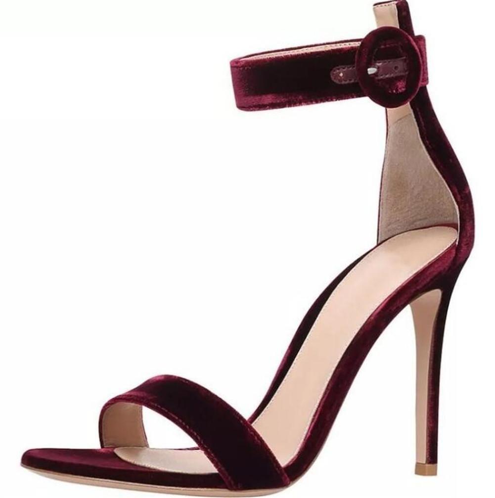 Scarpe da donna in velluto Festa e serata serata serata Stiletto Tacco Caviglia Cinghia pompe Sandali taglia 35 a 41 , EU37 d6edb5