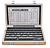 Accusize Industrial Tools 81 Pc Grade B Steel Gage Block Set, P900-S581