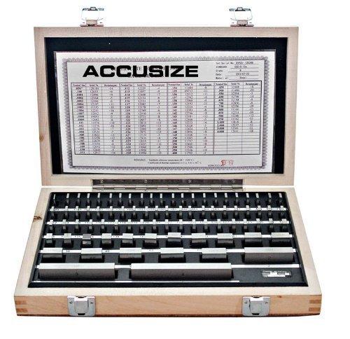 Accusize - 81 Pcs/Set Steel Gage Block set, Grade B, P900-S581 by Accusize Industrial Tools