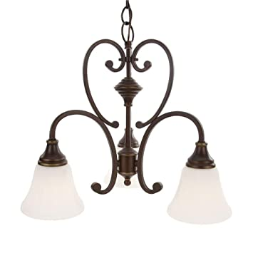 Hampton Bay GEX8193A 3 Somerset Collection Bronze Light Chandelier