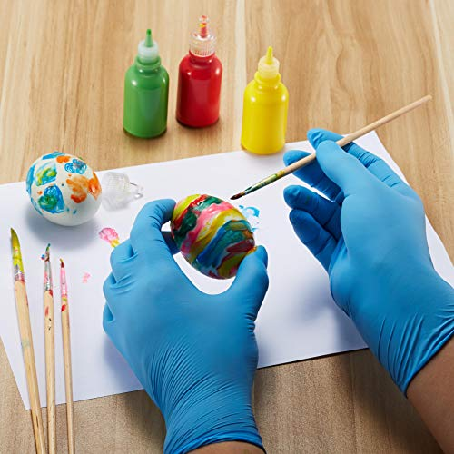 Guantes de nitrilo desechables para niños de 7 a 14 años, sin polvo, sin látex, sin olor, sin alimentos, sin alérgenos, con textura, 100 unidades, ...