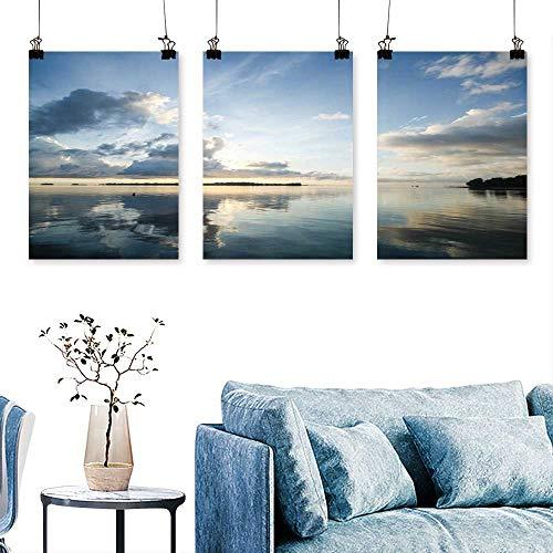 (SCOCICI1588 3-Piece Home Decoration mak isl KOH mak trat thail for Home Modern Decoration No Frame 24 INCH X 47 INCH X)