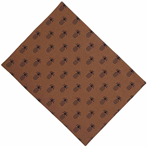 Home Collection by Raghu Pineapple Town Mocha & Black Placemat, 18
