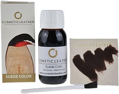 Tinte líquido marrón oscuro para zapatos de ante, pintura para accesorios de piel de ante 50 ml