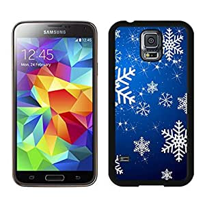 Provide Personalized Customized Christmas Snowflake Black Samsung Galaxy S5 Case 13