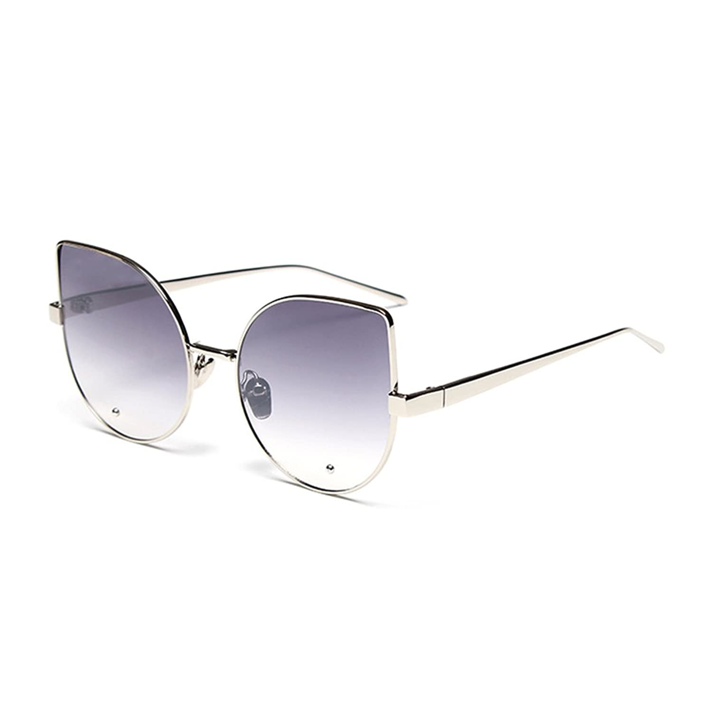 Coolsunny Oversize Slim Metal Frame Colored Mirror Flat Lens Sunglasses CS5273