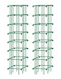 Square Heavy Gauge Extra Tall Tomato Cage Set of 2 Green