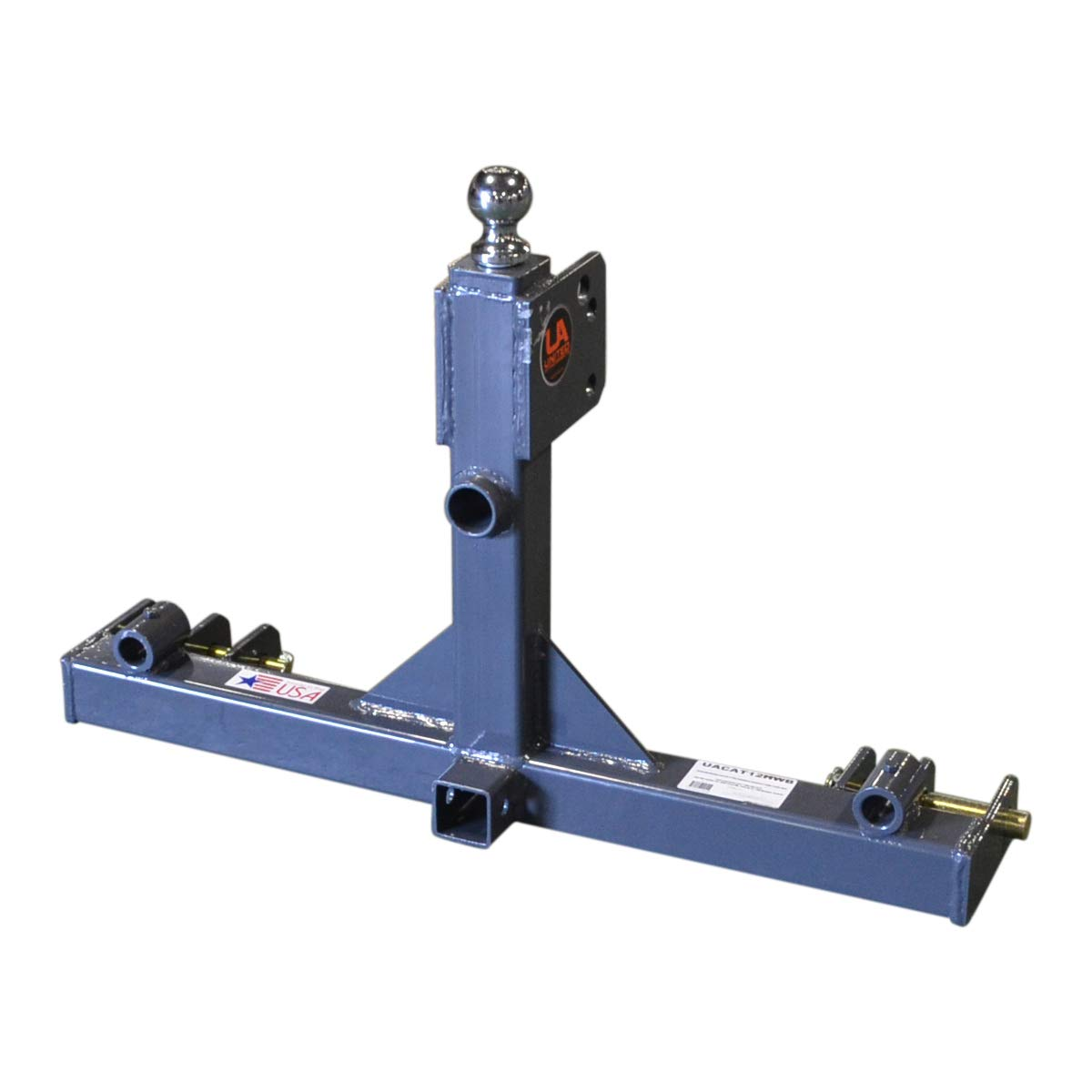 Titan Distributors Inc. 3 Point Gooseneck Tractor Trailer Hitch Receiver and Hay Attachment | Cat 1 & 2 by Titan Distributors Inc.