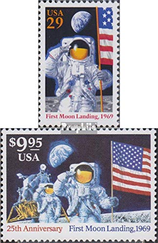 U.S. 2477-2478 (Complete.Issue.) 1994 Anniversary Moon Landing (Stamps for Collectors) Space