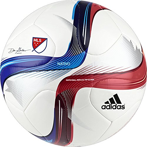 adidas Performance 2015 MLS Top Glider Soccer Ball, White/Po