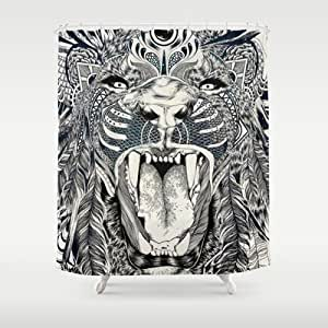 Society6 - Lion Shower Curtain by Feline Zegers