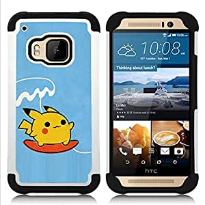 GIFT CHOICE / Defensor Cubierta de protección completa Flexible TPU Silicona + Duro PC Estuche protector Cáscara Funda Caso / Combo Case for HTC ONE M9 // Art Requires Courage //