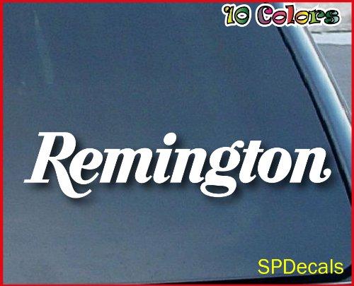 "Crawford Graphix Remington Firearms Car Window Vinyl Decal Sticker 7"" Wide (Color: White)"