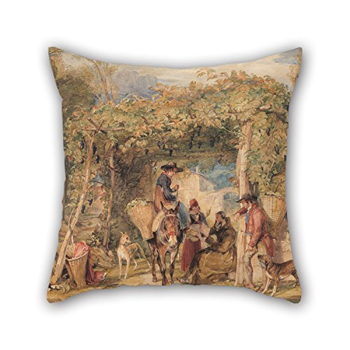 throw-cushion-covers-of-oil-painting-john-frederick-lewis-figures-and-animals-in-a-vineyardfor-famil
