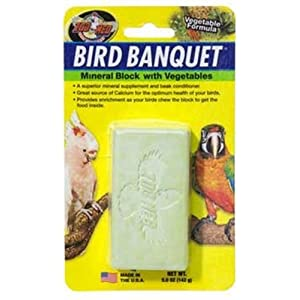 Zoo Med Mineral Block With Vegetables Bird Banquet, 5-Ounce 46