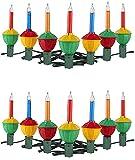 Tupkee Christmas Bubble Lights - Set of 7 Multi-Color Lights - Christmas Tree Holiday Decor - 2 Pack (Total 14 Lights)