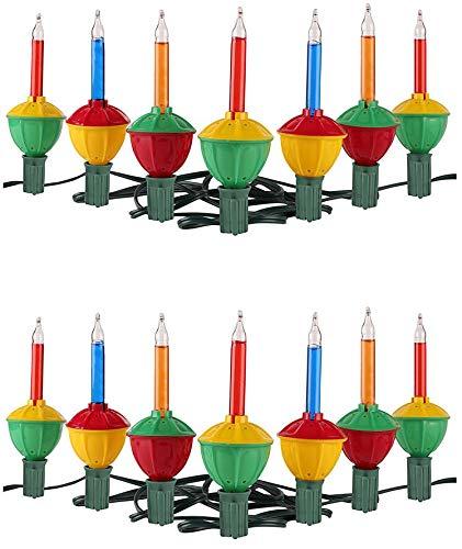 Tupkee Christmas Bubble Lights – Set of 7 Multi-Color Lights - Christmas Tree Holiday Decor - 2 Pack (Total 14 -