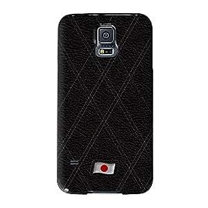 Elegante Funda de piel de bandera de Japón–bandera de Japón Full Wrap Case, Carcasa de fijación para Samsung Galaxy S5Impreso en 3d de alta calidad de UltraFlags