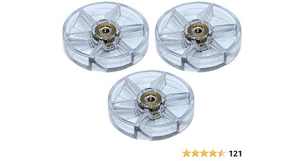 3 Pack Top Base Gear Replacement Parts for NutriBullet 600W 900W Blender V5V7