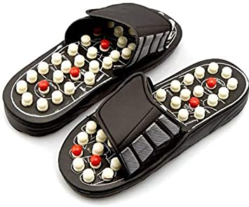 2422d455a4fb Zeom Foot Care Yoga Paduka Massager slipper for fitness pain relief body  joint pain Massager Size   7 (Multicolor)  Amazon.in  Health   Personal Care