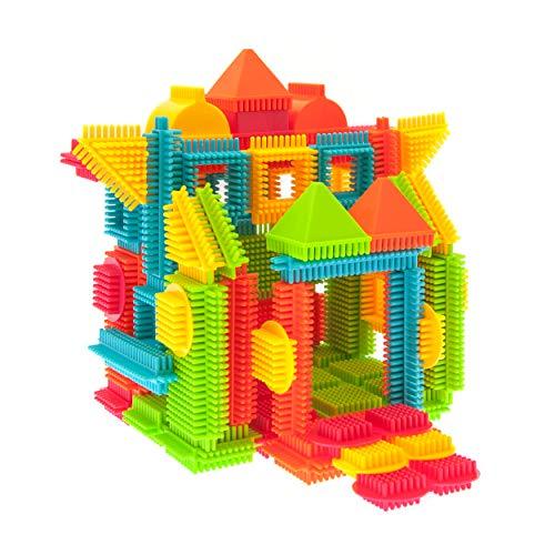 PicassoTiles PTB120 120pcs Bristle Shape 3D Building Blocks Tiles Construction Toy Set Learning Playset STEM Toy Set…