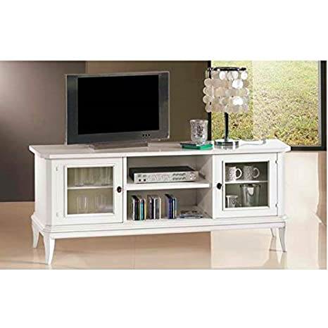 Mobile arredo 164x46x64h bianco opaco porta televisore TV legno ...