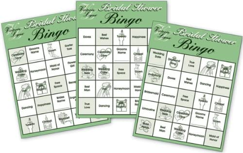victoria lynn bridal shower party bingo cards 24 game cards fun for the bridal shower