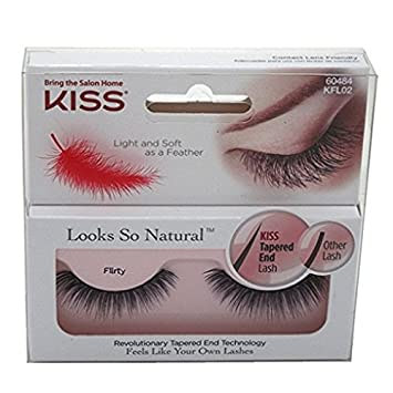 b45481e369a Amazon.com : Kiss Looks So Natural Eyelashes, 60484 Flirty, 1 pr : Beauty