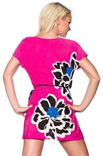 'bei T Kleid Beach Fashion mit kleine 6 Mini in Malibu Gebl Strass 1001 sachen Shirt Sommer Farben Pink Tunika dxBoeC
